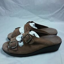 NICE Women's SAS Tri-Pad Comfort 2 Buckle Straps-Sandals Brown Leather-USA-10 N