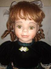 """26"""" Elite Porcelain Artist Doll Krista w/ Teddy Bear by Penelope Carr"""