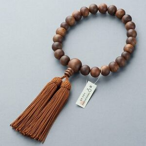 Japanese KYOTO Wood JUZU Buddhism Prayer beads Made in JAPAN JINJA for Men