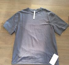 Lululemon Men Clock Out SS Short Sleeve T Shirt Top XL Forn Blue Gray