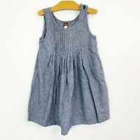 Tea Collection Girls Tank Chambray Blue Dress Size 6