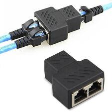 RJ45 Splitter Adapter 1 to 2 Dual Female Port CAT 5/6/7 LAN Ethernet Convertor