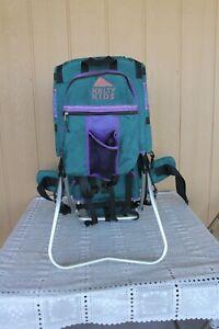 KELTY Kids Trek Green Purple Hiking Backpack Baby Child Carrier Metal Frame