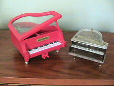 Two Mini Grand Pianos, Wind Up Music and Jewelry Box