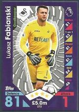 TOPPS MATCH ATTAX 2016-17 #272-SWANSEA CITY-LUKASZ FABIANSKI