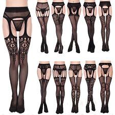 EG_ Women's Sexy Fishnet Lace Top Thigh-Highs Stockings Garter Belts Suspender W