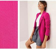 NWT Ann Taylor Hutton Blazer in Texture Hot Pink Poppy 4P