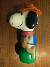 Vintage Peanuts Snoopy Beagle Scout Bubble Bath Container Decanter