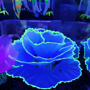 AU_ Aquarium Artificial Water Plants Flower Ornaments Fish Tank Luminous  DEN