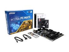 MSI H170A PC Mate LGA 1151 Intel H170 HDMI SATA 6Gb/s USB 3.1 USB 3.0 ATX