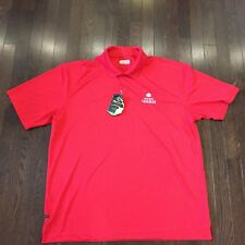 Molson Canadian On Tour Golf Athletic Shirt Mens Size XL damaged