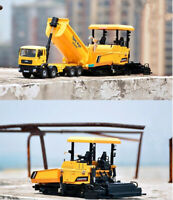 Dump Trucks and Pavers model,1:32 alloy engineering truck toy vehicles,metal