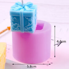 3D Gift Box Shape Silicone Fondant Cake Chocolate Mold Candle Soap Wax Mould