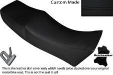 Negro Stitch Custom encaja Moto Guzzi Le Mans 1000 / doble Piel cubierta de asiento