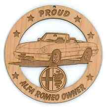 Alfa Romeo Spider Wood Ornament Engraved