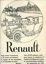 1920 : Publicité Automobile RENAULT - Roger Broders