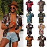 Floral Shirts Tee Mens Short Sleeve Summer Shirt Fashion Men's Dress Casual Tops