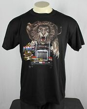 Vintage 80's 1989 Truckers Only 3D Emblem King Of The Road T-Shirt XL EX!
