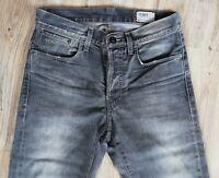 G-Star 3301 Slim 50127 W29 L34 Grau Herren Denim Jeans Hose Top Zustand Straight