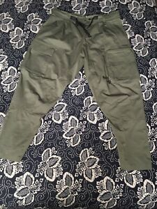 Nike ACG Woven Cargo Pants Mens Sz L Large Olive Green CD7646 325