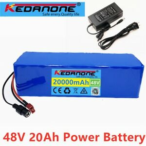 48v ion Battery 48V 20Ah 1000W Electric Bike Scooter Battery Pack & Charger