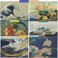 12pcs Hokusai Decorative File Folders Letter Size 13 Cut Manilla Organizer