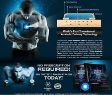 (1) TESTO DHERMAL PATCH - ADVANCE ANABOLIC HORMONE SUPPORT BOOST TESTOSTERONE