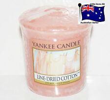 YANKEE CANDLE * Line Dried Cotton * Votive Candle SCENTED 15 HOURS BURNING