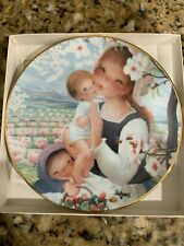 Spring Blossoms Schmid Juan Ferrandiz  Porcelain Plate Beautiful Bounty in Box
