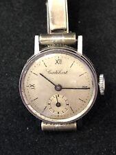 Vintage Cortebert Acier Stainless Steel Automatic Wrist Watch On Silver Strap