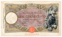 ITALY banknote 500 Lire 19.12.1940 VF Very Fine condition (1)