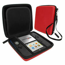 Red Carry Storage Hard Protective Case Cover For Nintendo 2DS Game With Zip