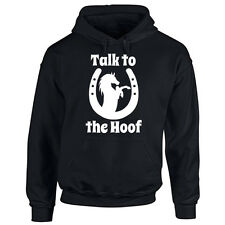 Adults Horse Hoodie - Talk To The Hoof - Equestrian Lover Gift Hooded Unisex Top