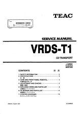 Service Manual-Anleitung für Teac VRDS-T1