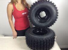 2 Rear Yamaha Raptor YFM660 660 Black Aluminum Rims & MASSFX Tires Wheels kit