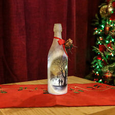 29CM INDOOR BATTERY OPERATED CHRISTMAS XMAS ICE RINK DESIGN LED LIGHT UP BOTTLE