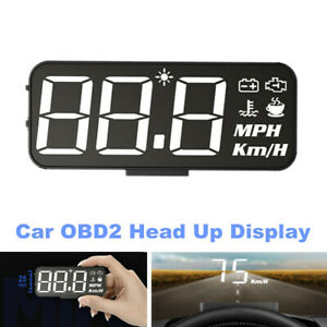 HUD Car OBD2 Head Up Display Digital Projector Speedometer Water Temp Voltmeter