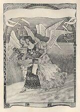 "Eugene GRASSET ""Les Fruits de la Terre"" rare estampe 1892"