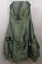 Dress Bridesmaid Prom Homecoming Formal 6 Strapless Green Knee Length Angelo