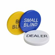 SmartDealsPro 3pcs Small Blind, Big Blind and Dealer Poker Buttons