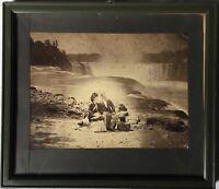Alte Fotografie Mann und Frau Samuel J. Mason Niagar Falls um 1870 American USA