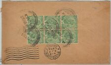 59175  -   INDIA  - POSTAL HISTORY: COVER to ITALY - 1923
