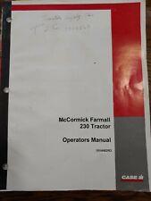 Case Ih 230 Mccormick Farmall Tractor Operators Manual