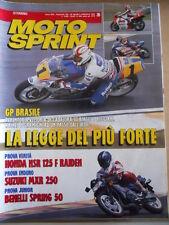 MOTOSPRINT n°35 1992  Honda NSR 125 F Raiden Suzuki MXR 250 Benelli Spring [P66]