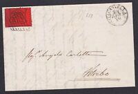 STATO PONTIFICIO 10 c. su lettera 1870 da Civitacastellana + griglia fuori corso