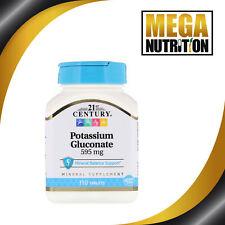 21st Century Potassium Gluconate 595mg 110 Comprimés Minéraux Équilibre Support