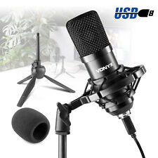 More details for pc microphone usb computer condenser gaming mic plug & play with tripod cm300b