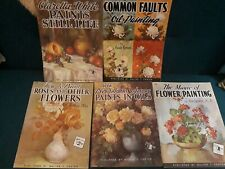 Lot of 5 Vintage Walter T Foster Paint Technique Books Oils Still Life & Florals