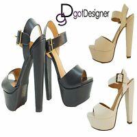 efab61add Womens Sandal T-strap Summer Shoes Wedge Heel Platform Peep Toe Strappy  Size5-10