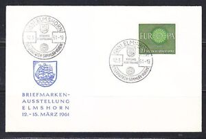 Germany BRD 1961 event cover Mi 337 Europa,ship,philately exhibition